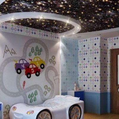 Оригинальный потолк в детской