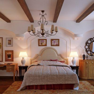 Отличное дизайнерское решение в оформлении спальни
