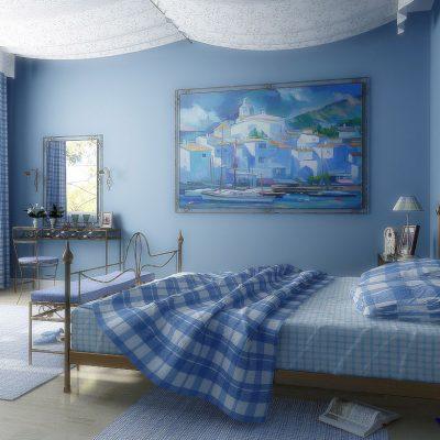 Пример спальни в морском стиле