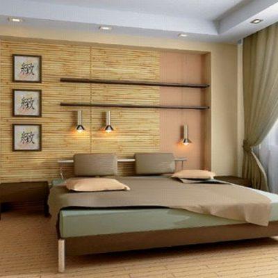 Природные цвета в спальне