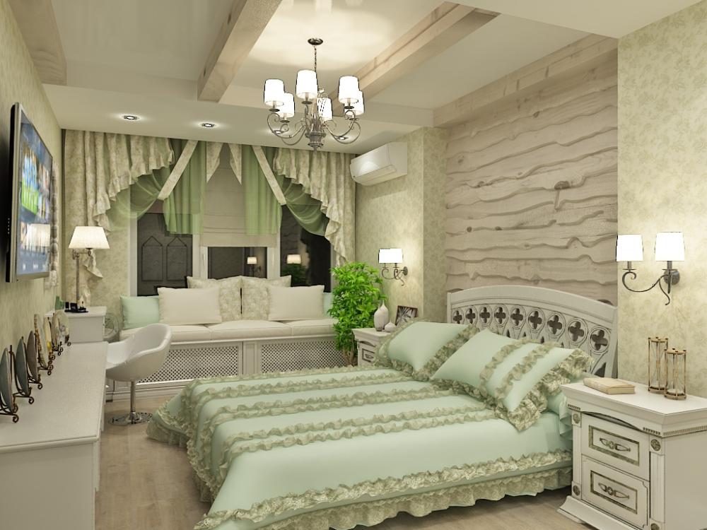 Просторная спальня стиле Ренессанс