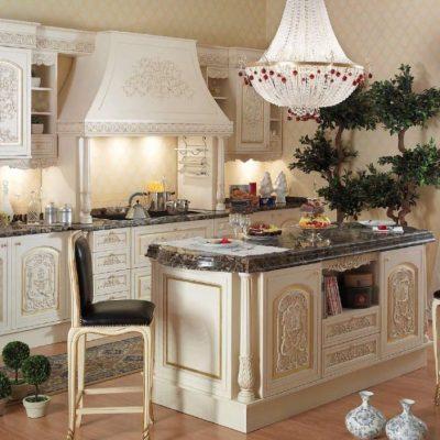 Романский стиль в интерьере фото кухни
