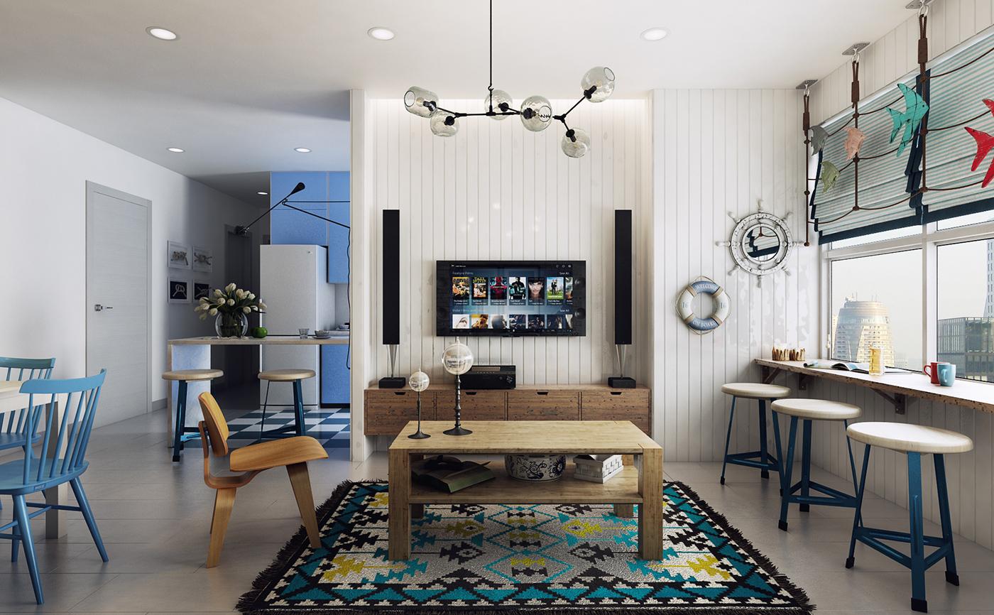 Скандинавский стиль в гостиной фото
