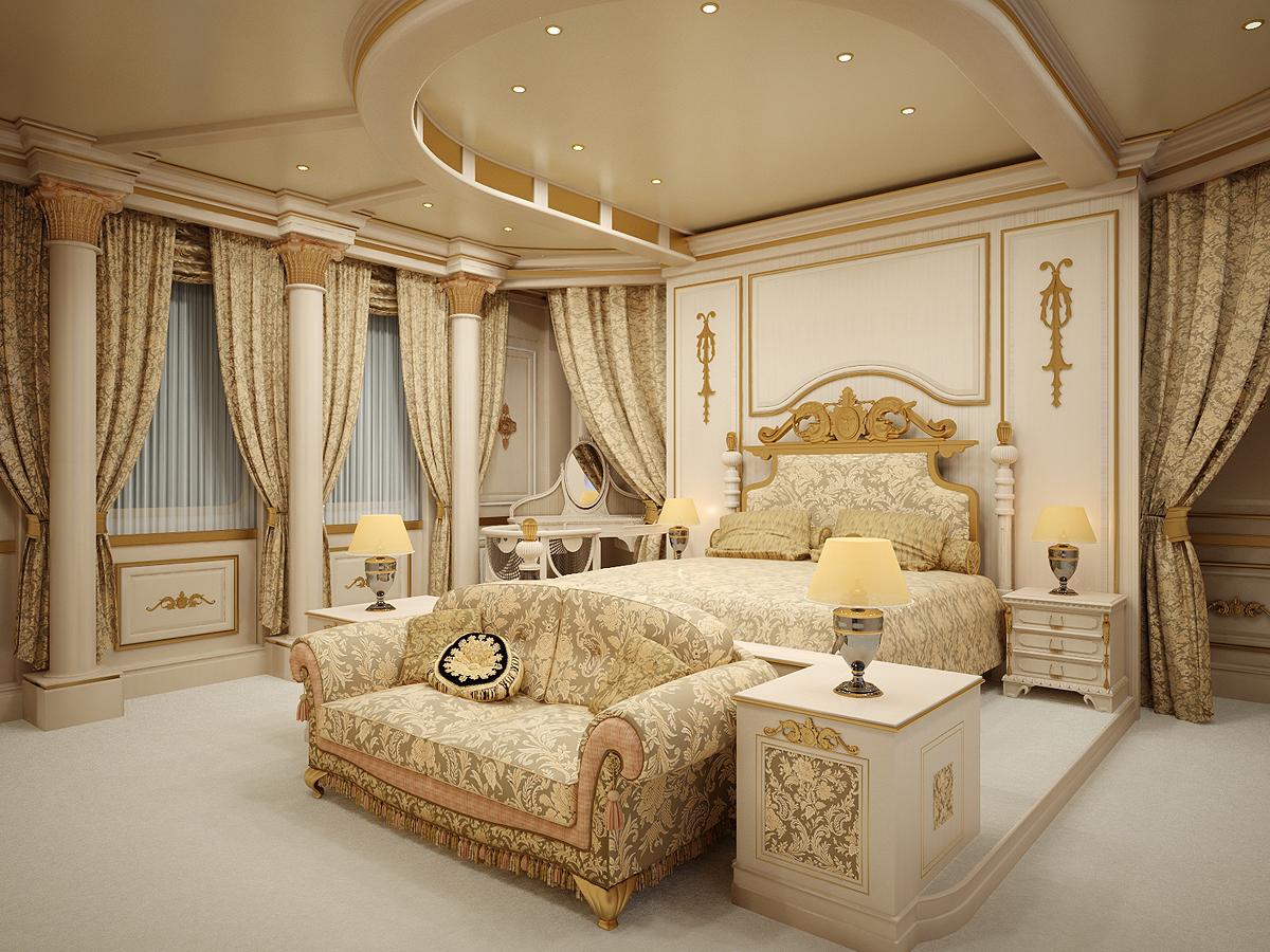 Создание стиля ренессанс в спальне