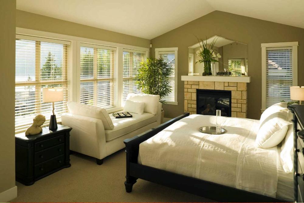 Стильная и практичная спальня в эко стиле