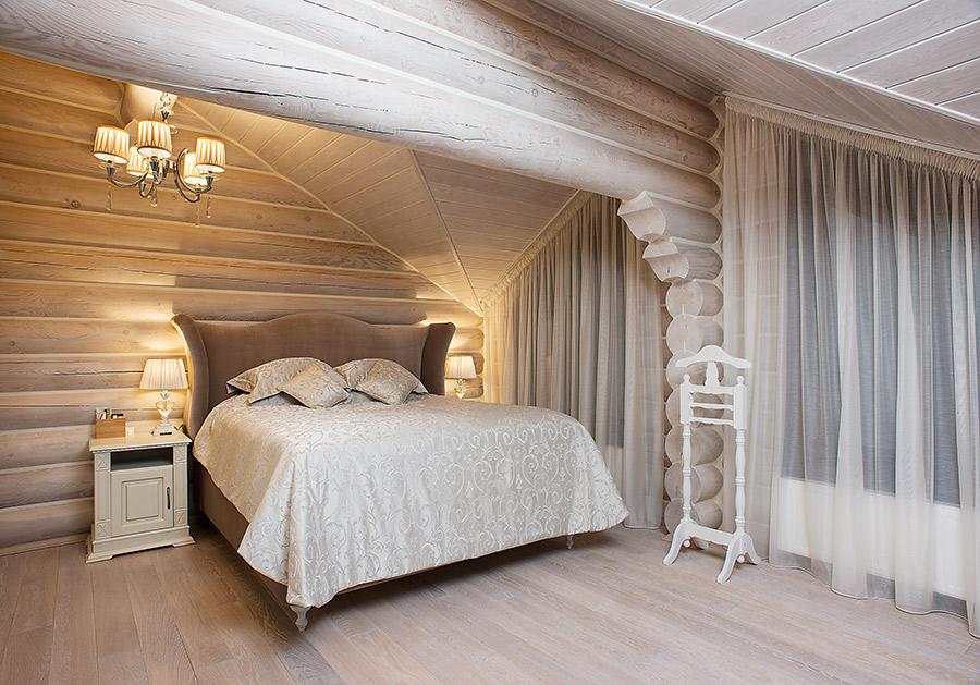 Светлая комната в русском стиле