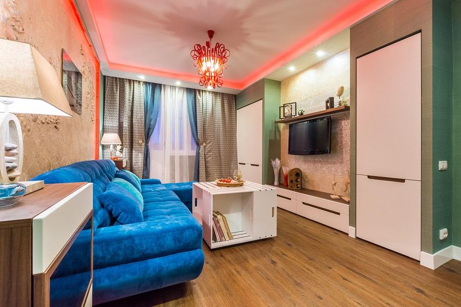 Уютная комната в морском стиле