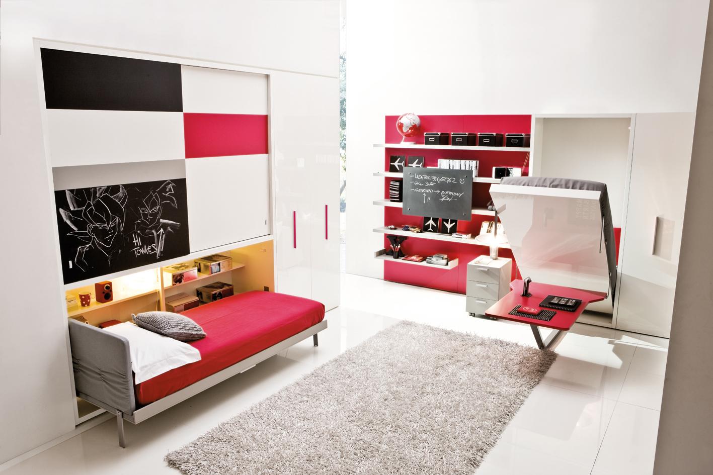 Мебель – трансформер в детской в стиле хай тек