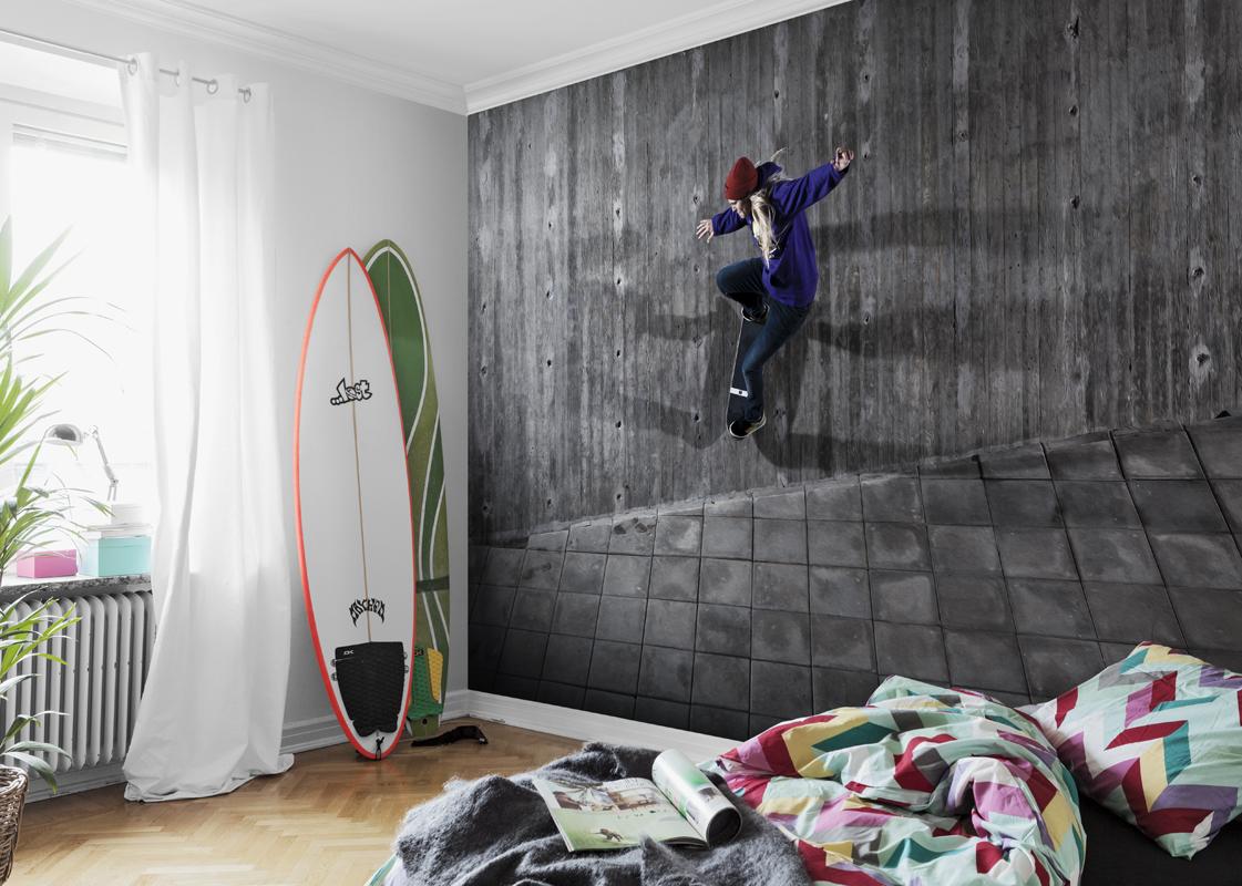 Фотообои в комнате для подростка