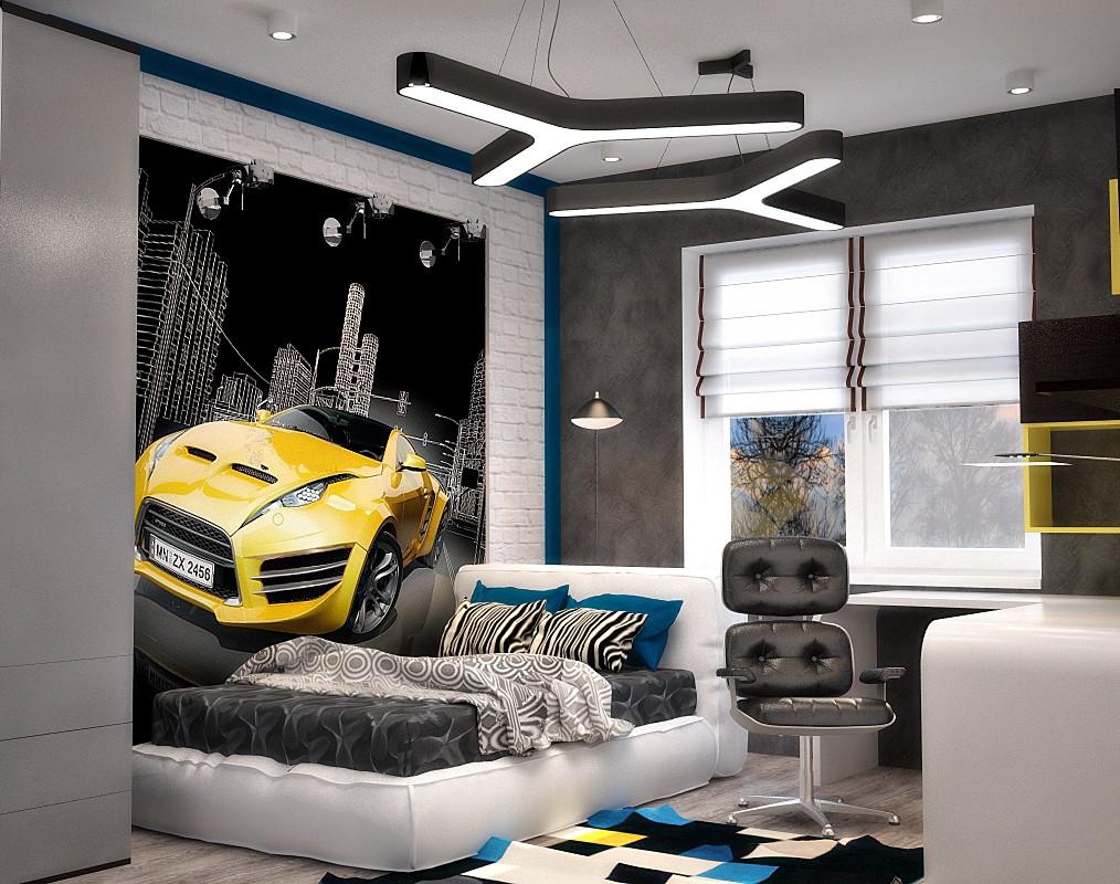 Комната для подростка в стиле хай тек