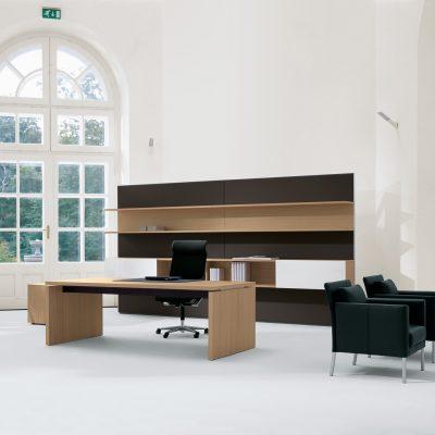 Контраст в интерьере кабинета в стиле модерн