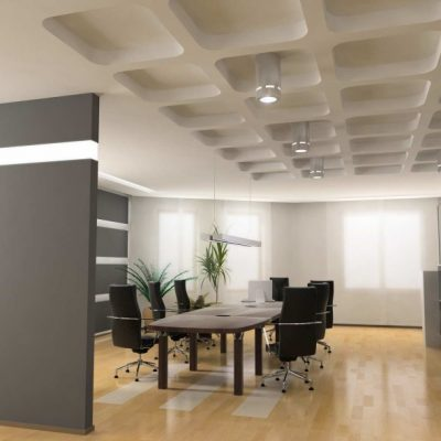 Просторный кабинет в стиле модерн