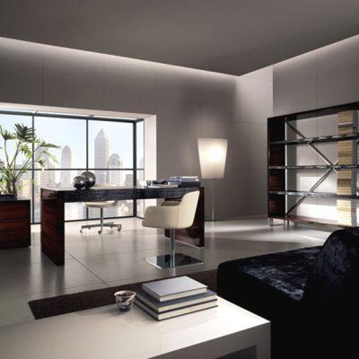 Свет в кабинете в стиле модерн