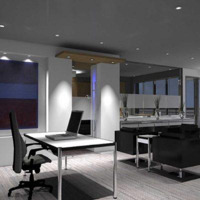 Фото кабинета в стиле модерн
