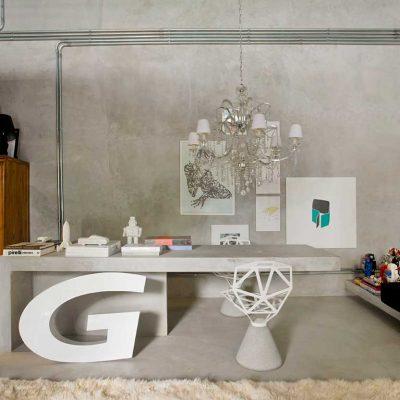 Дизайнерский кабинет в стиле модерн