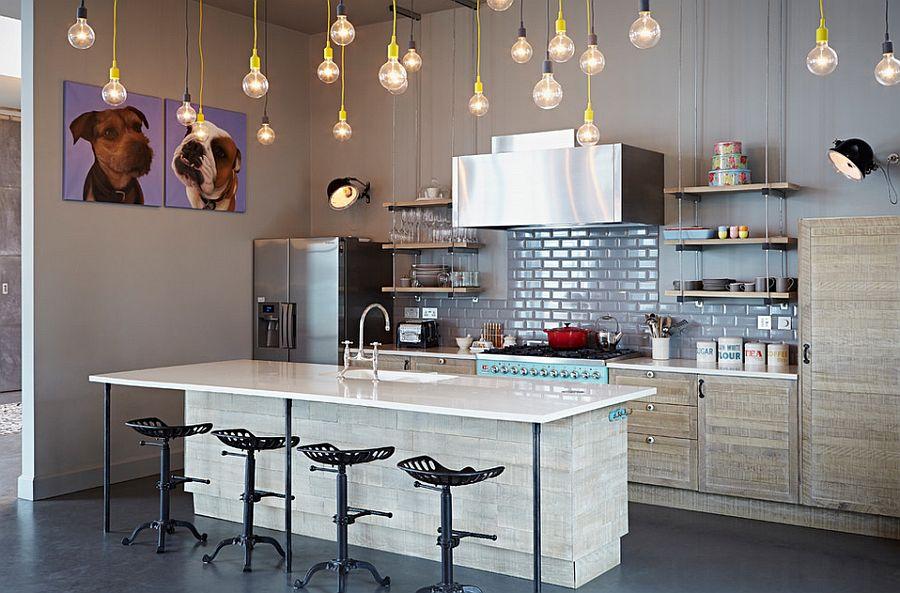 Один из вариантов оформления кухни в стиле эклектика