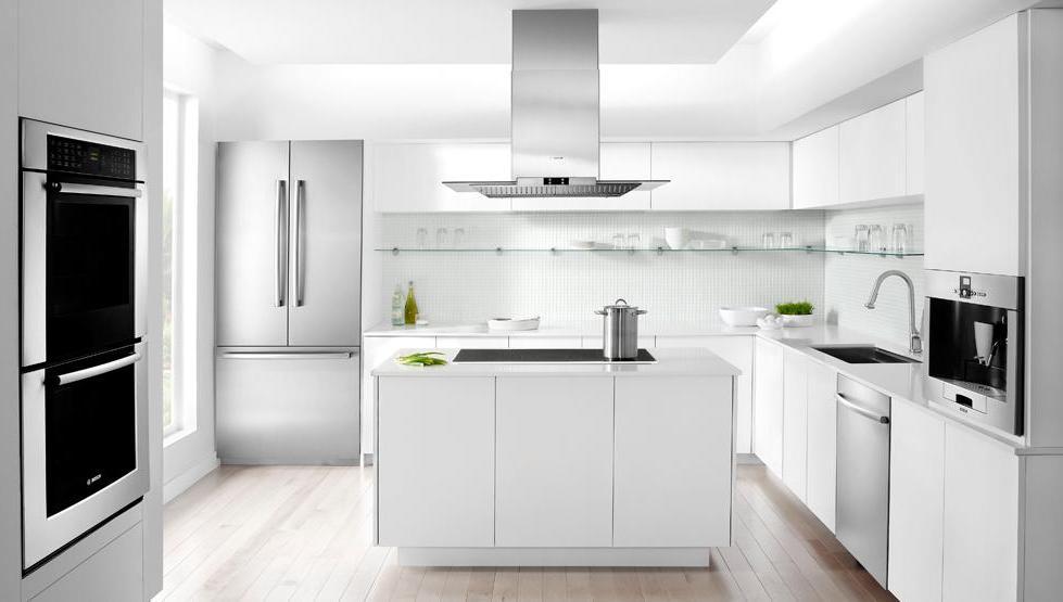 Белая кухня в стиле хай-тек - это всегда актуально
