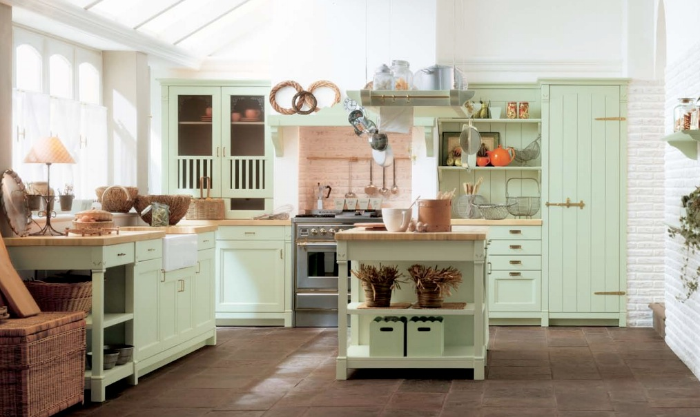 Кухонный фасад мятного цвета