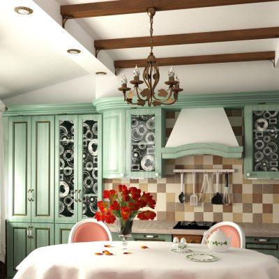 Классический светильник для кухни в стиле прованс