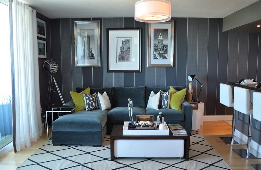 В любом помещении, в том числе и в гостиной, будет уместно несколько источников искусственного света