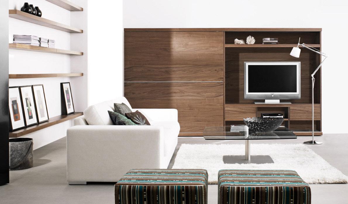Современную гостиную можно обустроить, выбирая мебель в минималистичном стиле