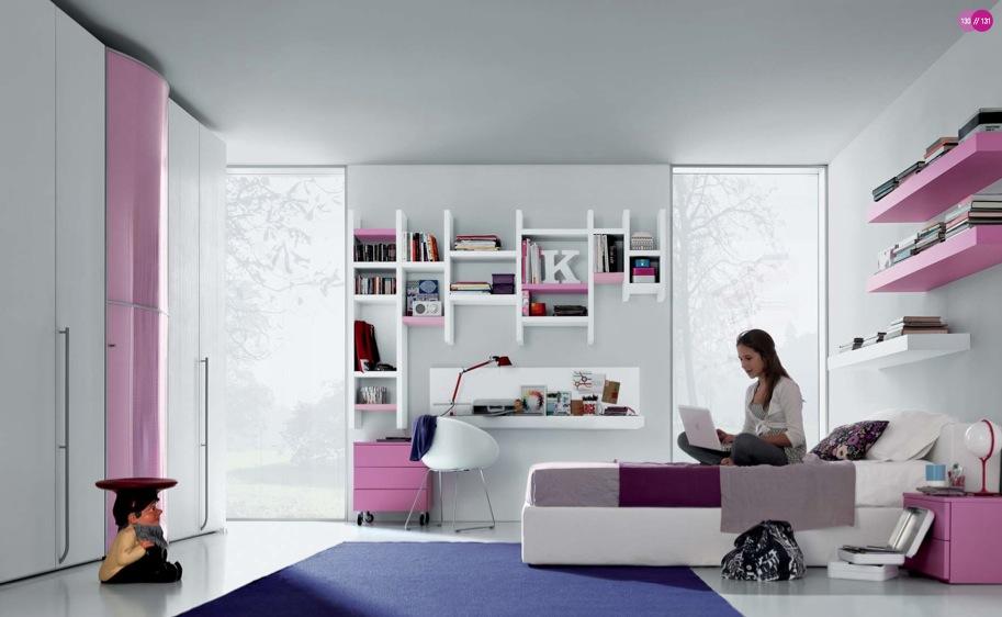 Комната для девушки-подростка в стиле модерн