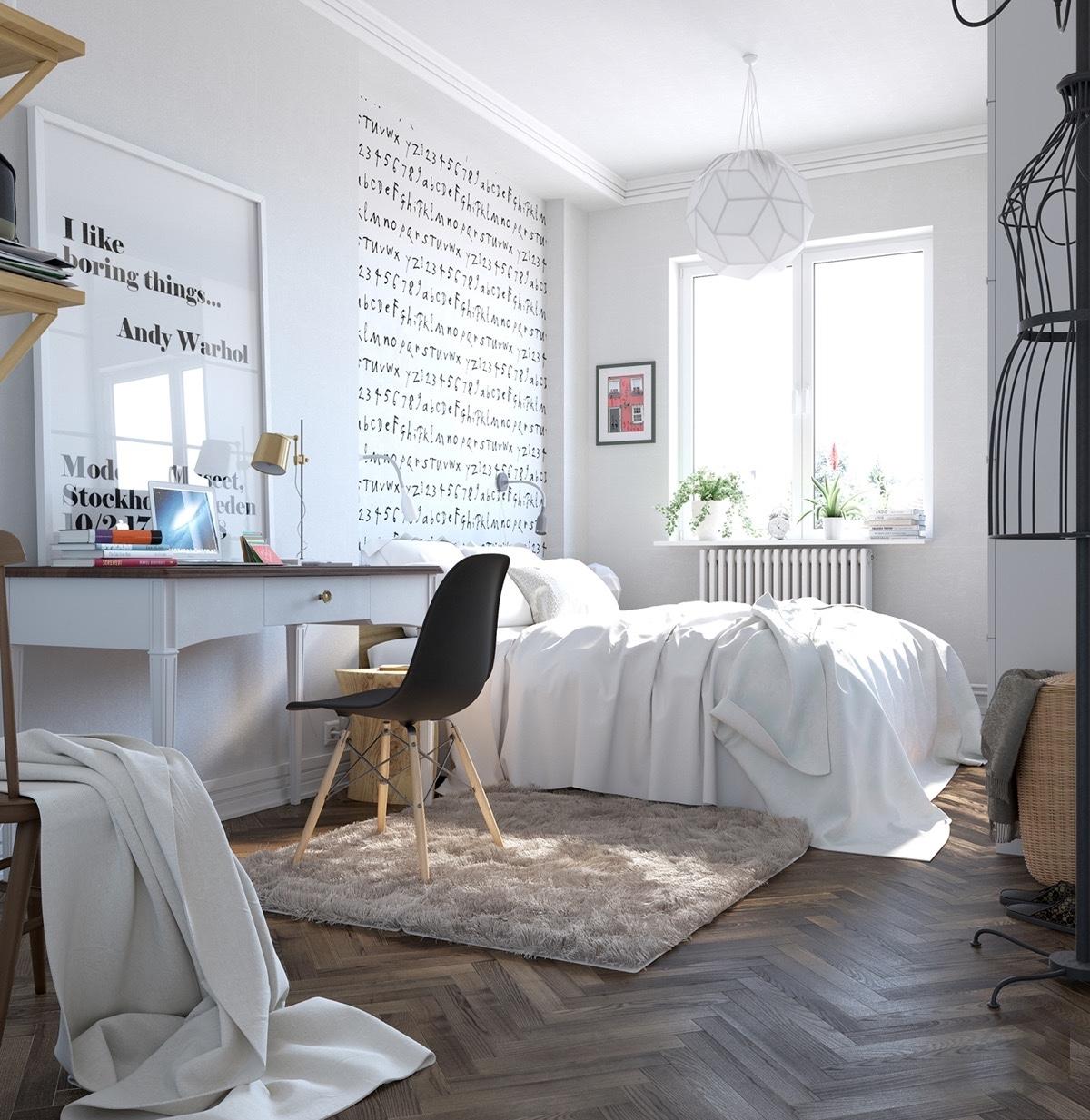 Комната в скандинавском стиле для подростка