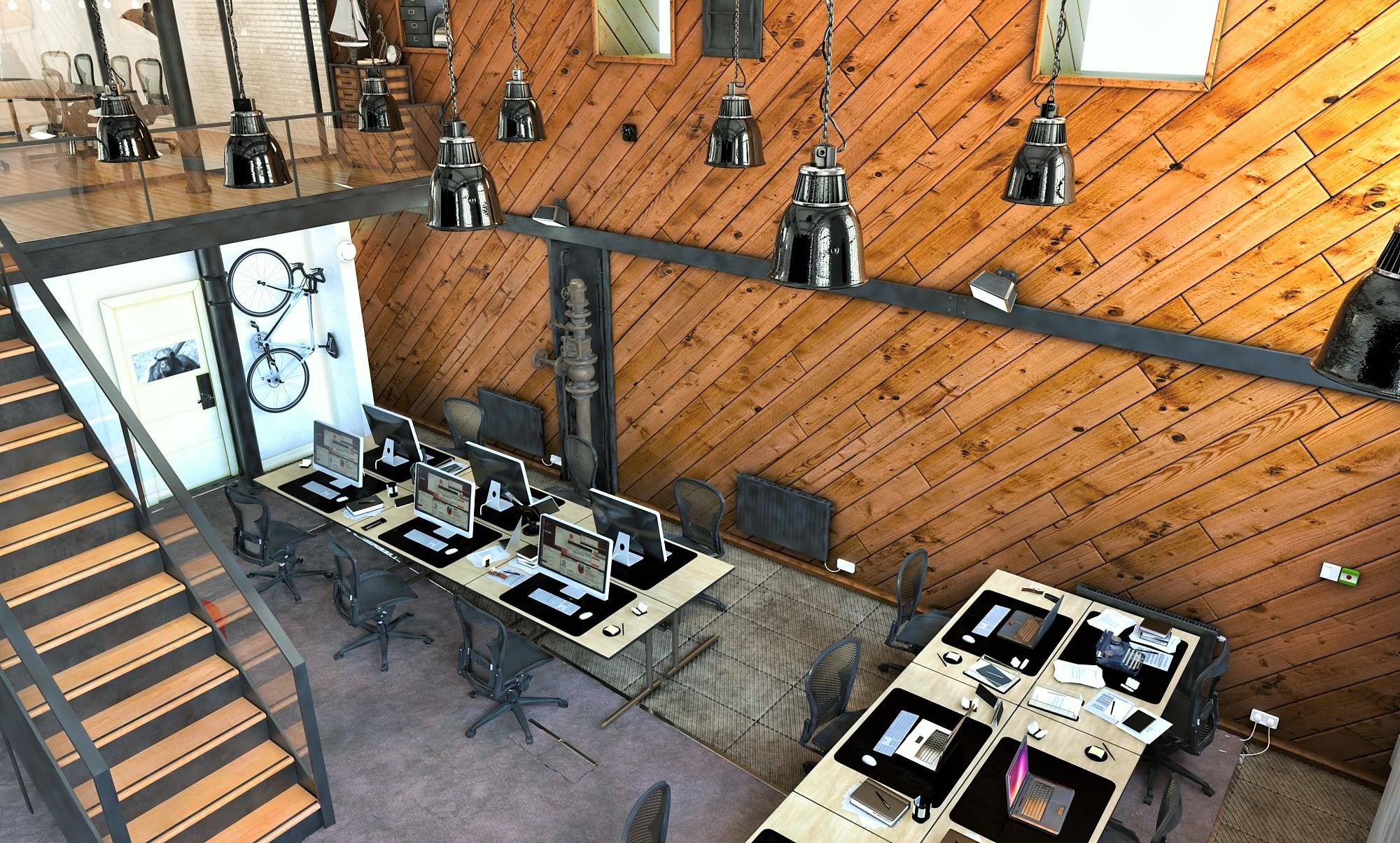Простые светильники в индустриальном стиле отлично впишутся в любой лофт интерьер