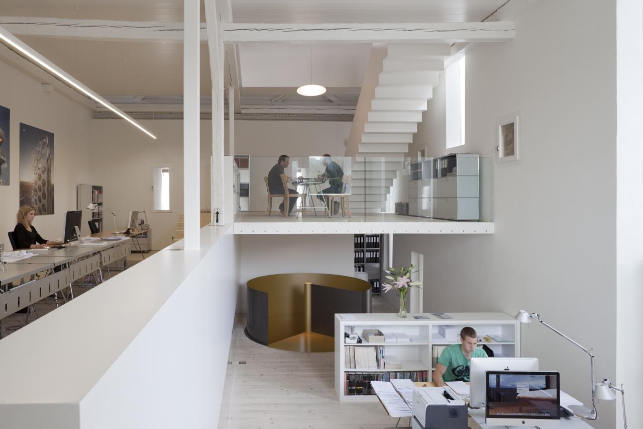 В офисе лофт должно быть минимальное, лишь необходимое количество мебели