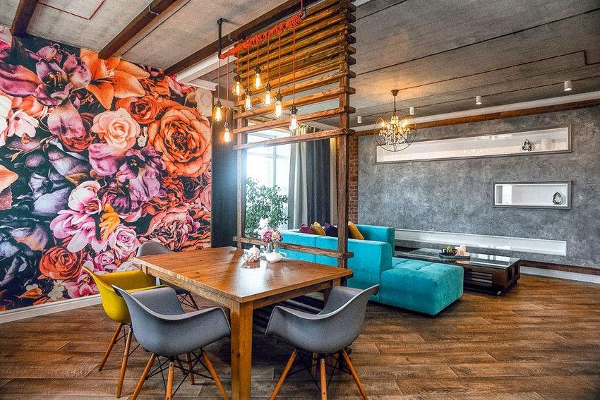 Можно заказать неповторимый эскиз или разрисовать стену в гостиной самому