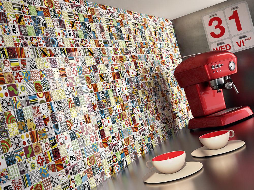 Яркая мозаика - великолепное решение для кухни в стиле поп-арт