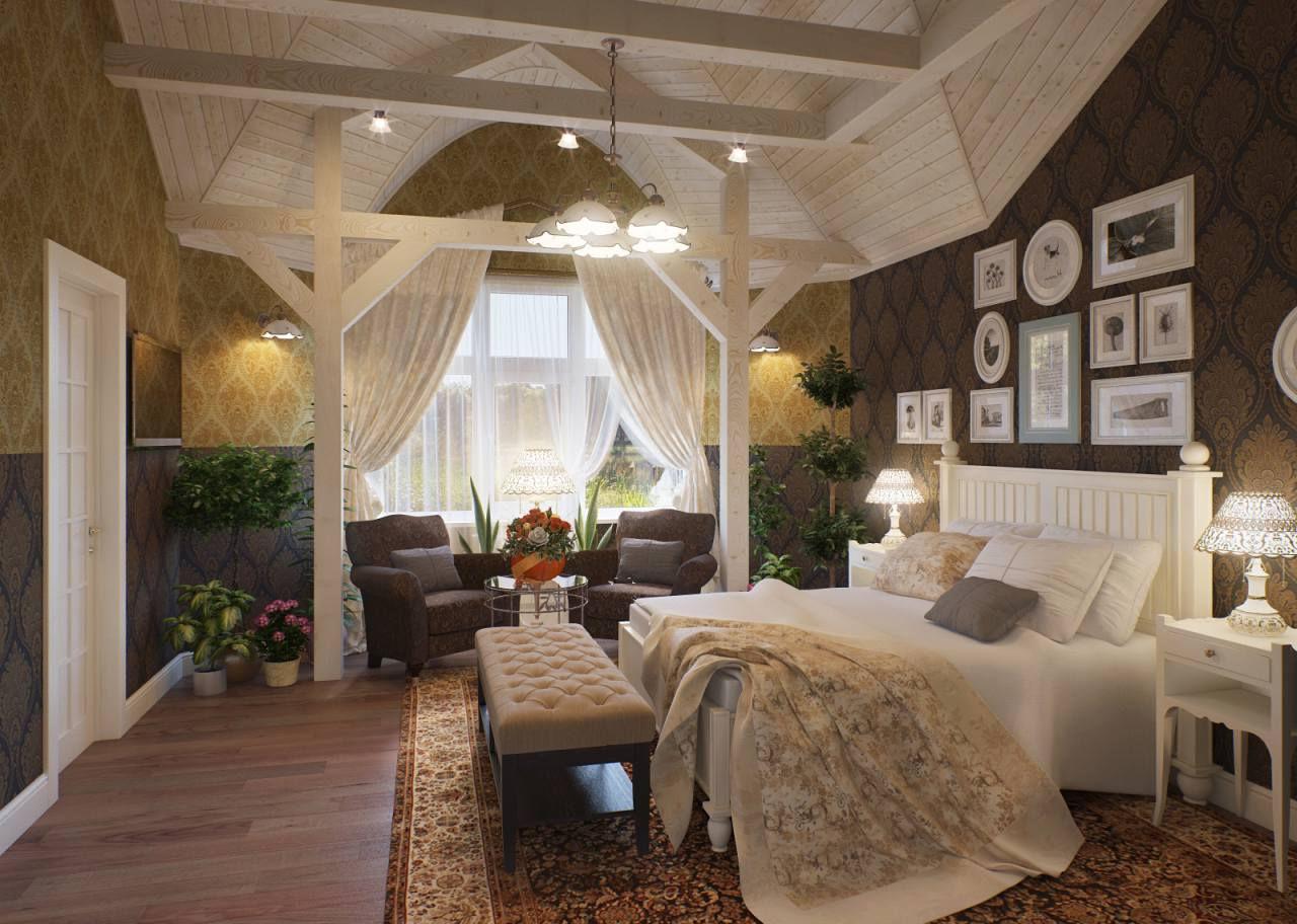 Комната в прованском стиле, несомненно, говорит о любви к деталям его владельца