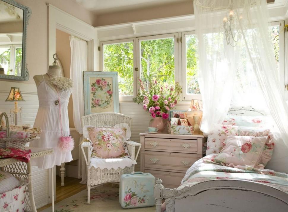 комната для девушки в стиле шебби-шик