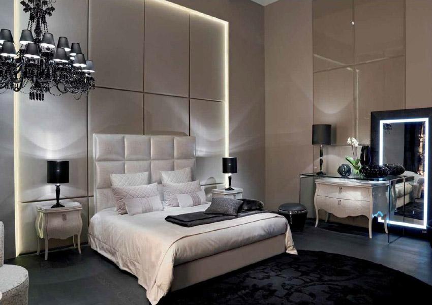 Хорошо, если в спальне есть несколько источников искусственного света