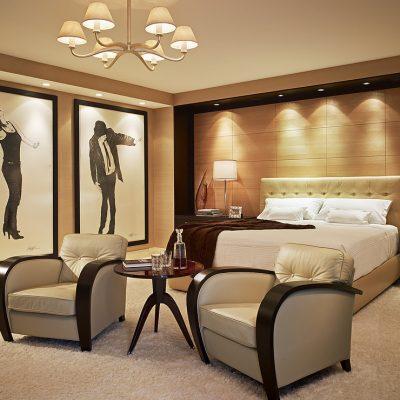 Элегантная спальня в стиле арт-деко