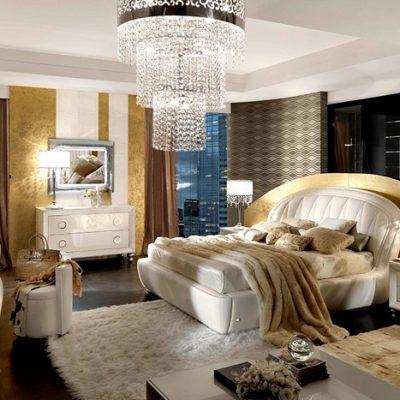 Богемная спальня в стиле арт-деко