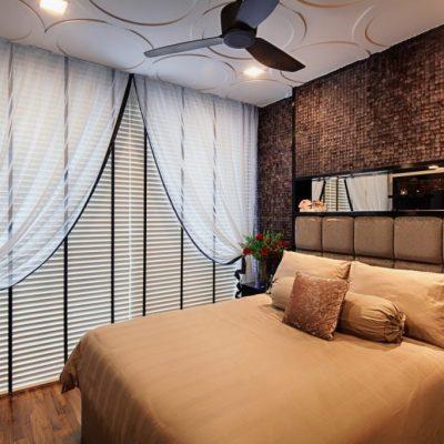 Простая спальня в стиле арт-деко