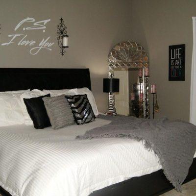 Спальня в стиле арт-деко маленького размера
