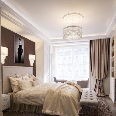 Маленькая спальня в стиле арт-деко