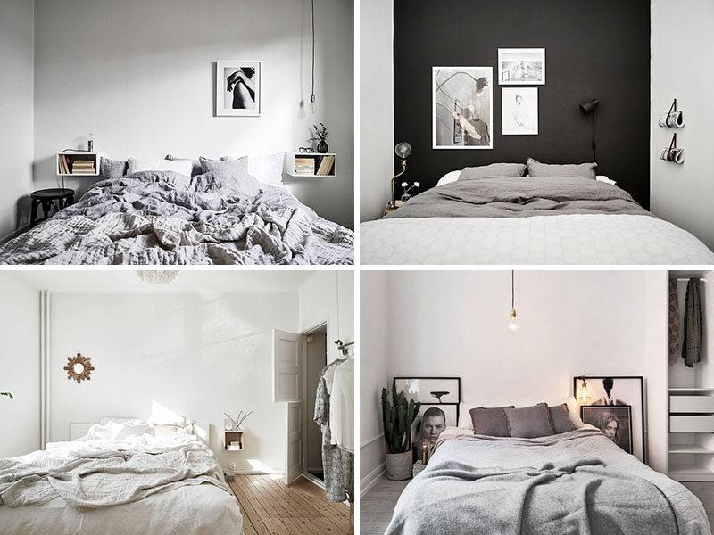 Варинты спален в скандинавском стиле