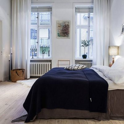 Простая спальня в скандинавском стиле