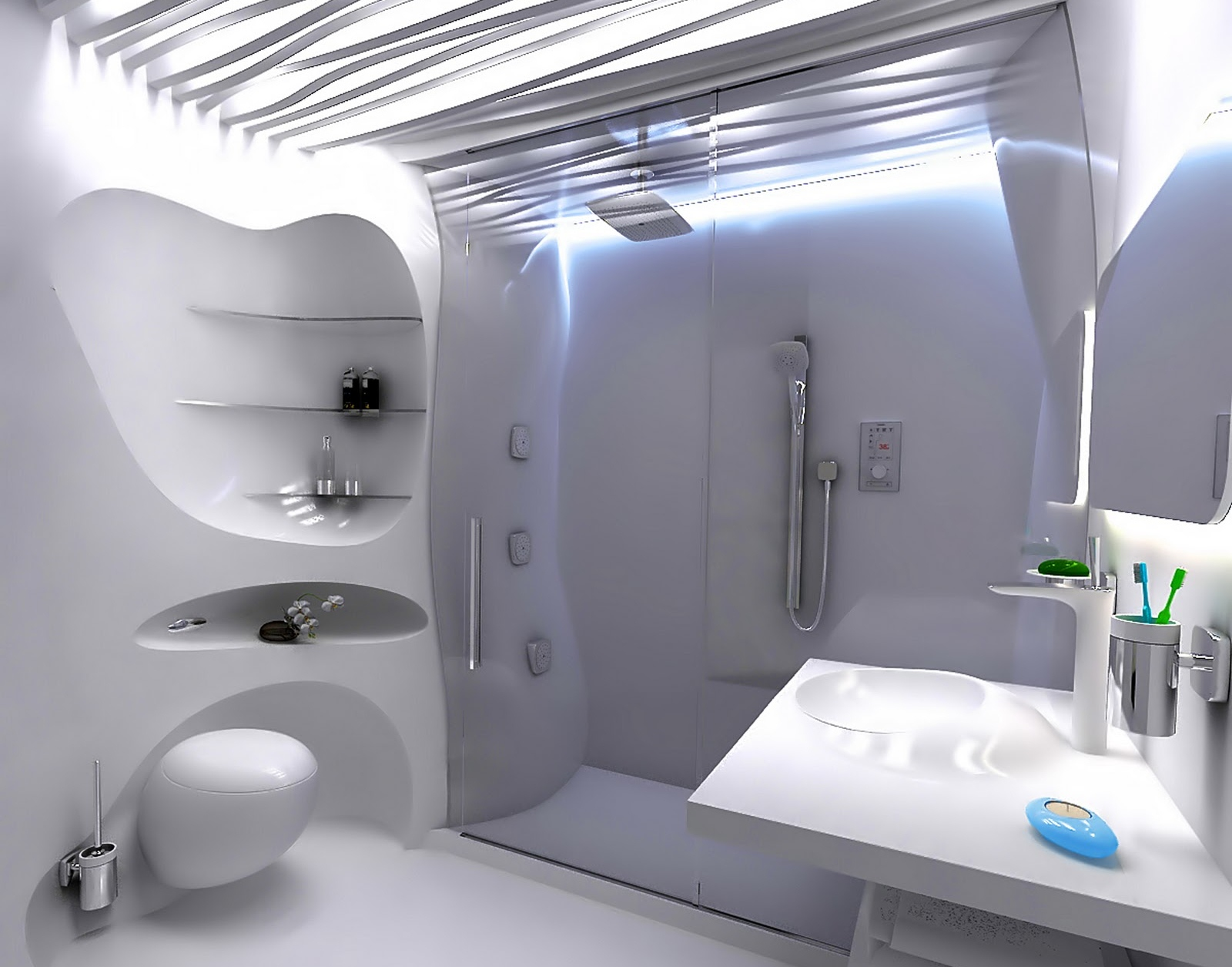 Ванная в стиле бионика