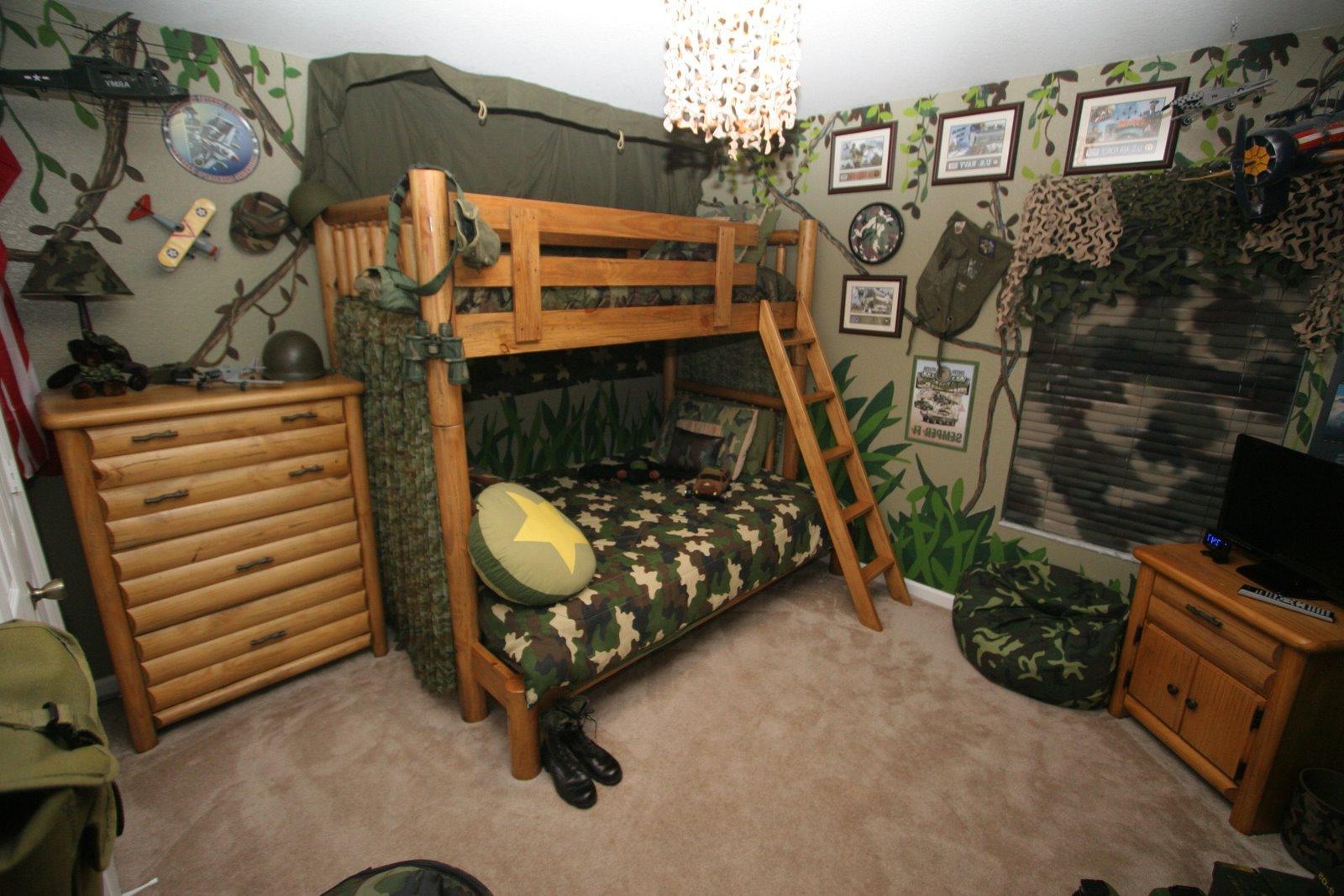 Комната для подростка в военном стиле