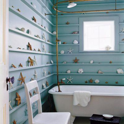 Оригинальная ванная в морском стиле