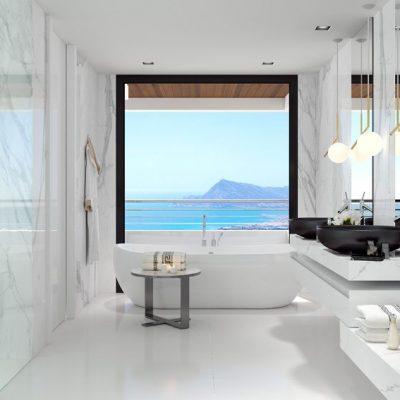 Роскошная ванная в морском стиле