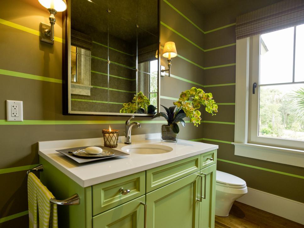 Ванная в зеленом цвете