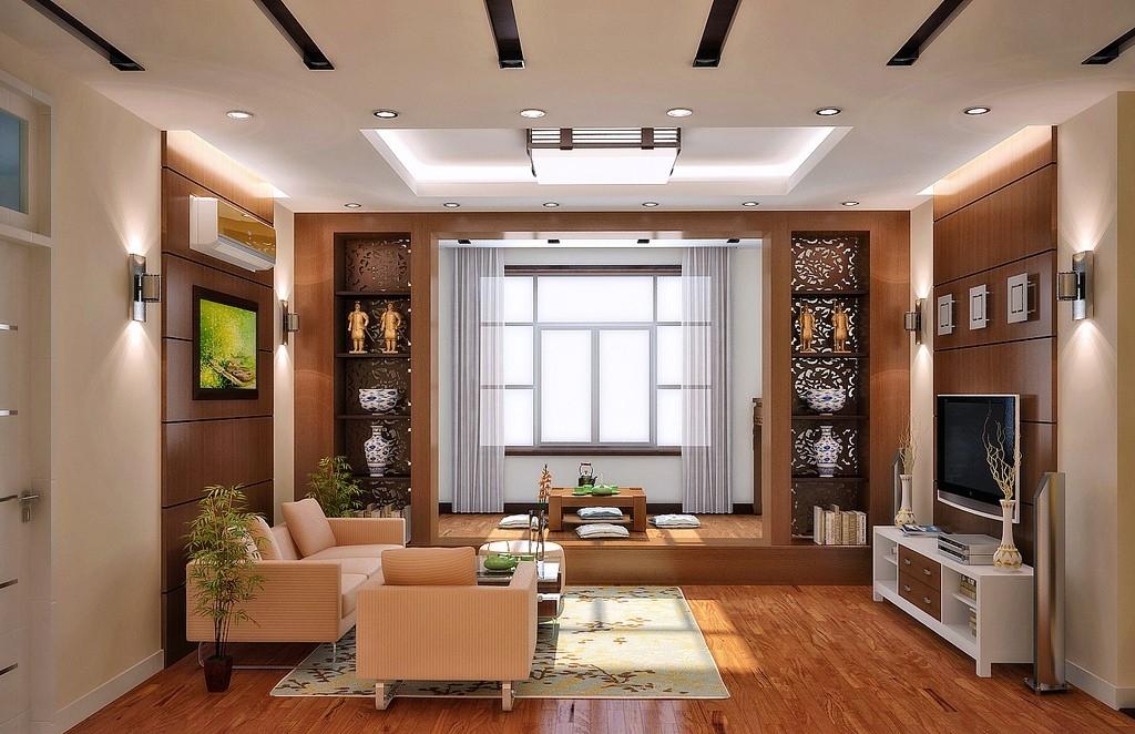 Если позволяет пространство гостиной, можно установить специальный столик для чайной церемонии