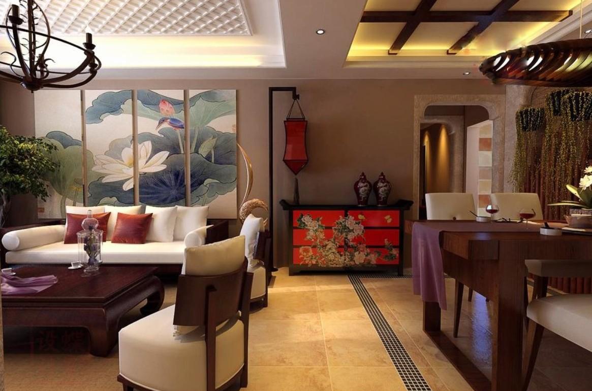 Как в японской, так и в китайской гостиной достаточно мало аксессуаров
