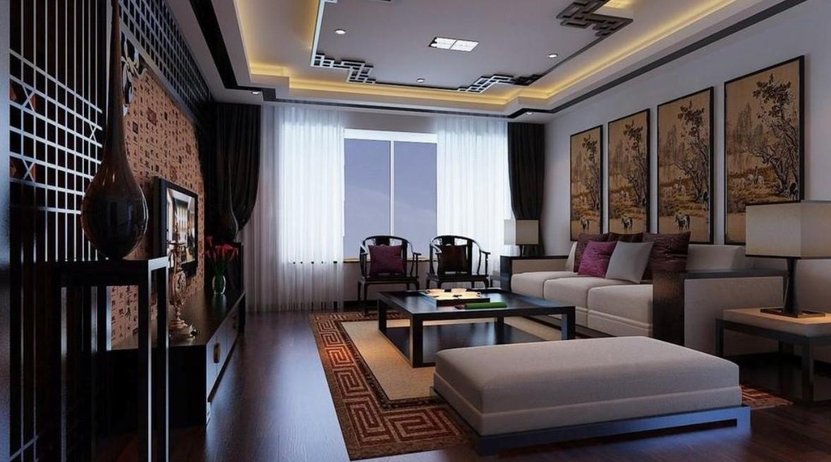 Мебель восточной гостиной исключительно деревянная