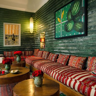 Зеленая гостиная в восточном стиле